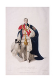 Knight of the Garter in Ceremonial Costume, 1824 Giclee Print by William Bond