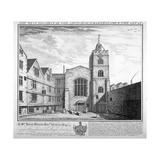 St Bartholomew-The-Great, City of London, 1737 Giclee Print by William Henry Toms