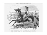 The Derby Day - Another False Start., 1858 Giclee Print
