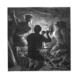 Coal Mining Accident, Tynewydd Colliery, South Wales, April 1877 Giclee Print by William Heysham Overend