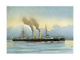 HMS Latona, Royal Navy 2nd Class Cruiser, C1890-C1893 Giclee Print by William Frederick Mitchell