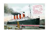 Ocean Liner RMS Mauretania, 20th Century Giclee Print