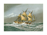 A Royal Navy 28 Gun Frigate, C1794 Giclee Print by William Frederick Mitchell