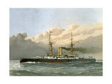 HMS Royal Sovereign, Royal Navy 1st Class Battleship, C1890-C1893 Giclee Print by William Frederick Mitchell