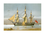 A Royal Navy 42 Gun Frigate, C1780 Giclee Print by William Frederick Mitchell