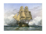 HMS Victory, British Warship, C1890-C1893 Lámina giclée por William Frederick Mitchell