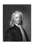 Isaac Newton, English Mathematician and Physicist Giclee Print