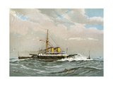 HMS Rodney, Royal Navy 1st Class Battleship, C1890-C1893 Giclee Print by William Frederick Mitchell