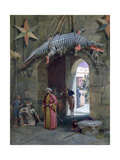 A Doorway in Cairo, 1884 Giclee Print by William Simpson