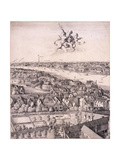 Panoramic View of London, C1670 Giclee Print by Wenceslaus Hollar