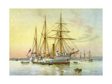 HMS Bramble, Royal Navy 1st Class Gunboat, C1890-C1893 Giclee Print by William Frederick Mitchell