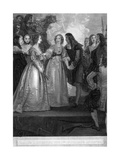 Charles II Receiving the Duchess of Orleans at Dover, 1670 Giclee Print by William Bromley