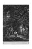 Charles II in the Forest of Boscobel, 1651 Giclee Print by  Pouney & Rhodes