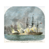 The Naval Combat in Mobile Harbour, Alabama, American Civil War, 5 August 1864 Giclee Print by EB Hough