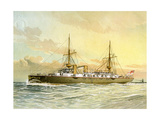HMS Undaunted, Royal Navy 1st Class Cruiser, C1890-C1893 Giclee Print by William Frederick Mitchell