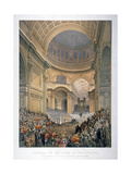 Interior of St Paul's Cathedral During the Funeral of the Duke of Wellington, London, 1852 Giclee Print by William Simpson