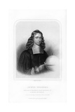 James Gregory, Scottish Mathematician and Astronomer Giclee Print by William Holl II