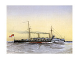 HMS Speedwell, Royal Navy Torpedo Gunboat, 1892 Giclee Print by William Frederick Mitchell