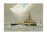 HMS Hero, Royal Navy 2nd Class Battleship, C1890-C1893 Giclee Print by William Frederick Mitchell