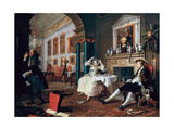 Marriage A-La-Mode: 2, the Tete a Tete, 1743 Giclee Print by William Hogarth