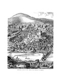 Heidelberg Castle and Town Viewed across the Neckar River, Germany, in 1620 Giclee Print