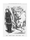 The Boeuf Gras for Paris, 1871 Giclee Print by John Tenniel