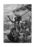 Richard I, Coeur De Lion Landing at Jaffa (Jopp), September 1191 Giclee Print by William Heysham Overend