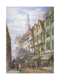 Old Houses in Wych Street, Westminster, London, 1873 Giclee Print by William Richardson