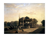 Ancient Temple at Hulwud, 1826 Giclee Print by William Frederick Witherington