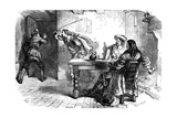 The Fracas at the Ship Tavern, 17th Century Giclee Print by  Whymper