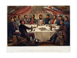 A Christmas Dinner on the Heights before Sevastopol, 1855 Giclee Print by William Simpson