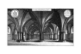 St Faith's Church in the Crypt of Old St Paul's Cathedral, London, 1657 Lámina giclée por Wenceslaus Hollar