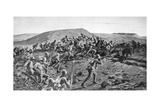 The South Lancashires Storming the Boer Trenches at Pieters Hill, Natal, 1900 Giclee Print by William Barnes Wollen