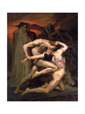 Dante and Virgil in Hell, 1850 Lámina giclée por William-Adolphe Bouguereau