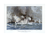 Battle of Santiago De Cuba, 3 July 1898 Giclee Print by Willy Stower