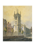 South-West View of the Church of St Olave Jewry, City of London, 1815 Giclee Print by William Pearson