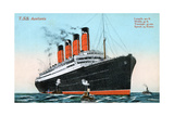 Ocean Liner RMS Aquitania, 20th Century Giclee Print