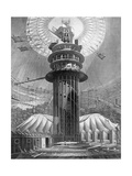 The Geometrical Ascent to the Galleries in the Colosseum, Regent's Park, London, 1823 Giclee Print