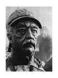 Sculpture of Otto Von Bismarck, 19th Century Prussian Statesman, 1937 Giclee Print