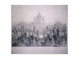 Dream City of Christopher Wren's Buildings, 1842 Giclee Print by William Richardson