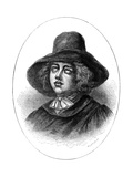 George Fox, Founder of the Quakers, 17th Century Giclee Print by  Whymper