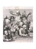 A Chorus of Singers, 1732 Giclee Print by William Hogarth