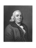 Benjamin Franklin, 18th Century American Scientist, Inventor and Statesman, 1835 Giclee Print by Joseph Siffred Duplessis