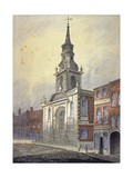St George's Church, Borough High Street, Southwark, London, C1815 Giclee Print by William Pearson