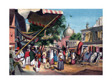 A Street at the Back of Jami Masjid, Delhi, India, 1857 Giclee Print by William Carpenter