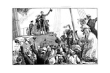 The Queen Leaving Kingstown, Royal Visit to Ireland, C1849 Giclee Print by William Heysham Overend