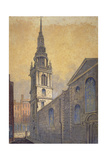 Church of St Mary Le Bow from Bow Churchyard, City of London, C1815 Giclee Print by William Pearson