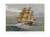 A Royal Navy 38 Gun Frigate, C1770 Giclée-Druck von William Frederick Mitchell