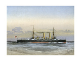 HMS Blenheim, Royal Navy 1st Class Cruiser, 1892 Giclee Print by William Frederick Mitchell