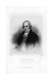 James Watt, Scottish Inventor and Engineer Giclee Print by William Holl II